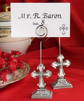 Elegant Cross Design Place Card Holder